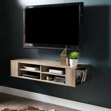 Wall Mounted Media Console TV Stand Entertainment Center Floating Cabinet Oak