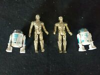 Vintage 1977 R2d2 And C3P0 Action Figures. 2 Complete Sets Star Wars Kenner