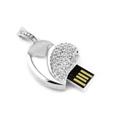 Crystal Heart Shape Diamond 8GB USB 2.0 Flash Drive Memory Stick Thumb Pen Drive