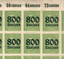 Briefmarken Deutsches Reich Michel 301A   1 Bogen mit 99 Stk ** <<<<<<<<<<