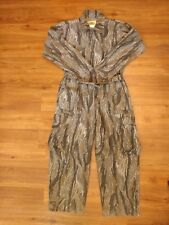 Vtg IDEAL SIlent Leaf Camo Chamois Coveralls sz XL Hunting Camouflage 46 48