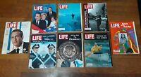 LOT 8 LIFE MAGAZINES 1960's Nixon Kennedy McCarthy Presidency & Native Americans