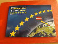 *Lettland 2 x KMS * Vor Euro und Euro KMS 2014 in Blister(Ki4)