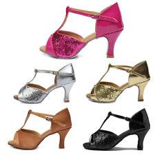 Women Girl lady's Ballroom Tango Latin Dance Shoes Dancing heeled Salsa 4 Color