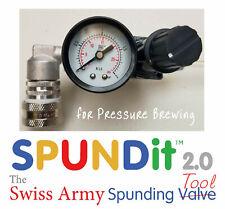 SPUNDit 2.0 Spunding Valve for Fermentasaurus, Fermzilla, Snub Nose, Picobrew...