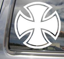 Round Iron Cross - Prussia Car Laptop Bumper Window Vinyl Decal Sticker 10299