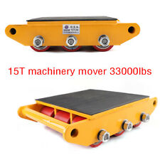 More details for 15t machinery mover heavy duty machine dolly skate roller mover cargo trolley uk
