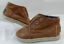 TOMS Brown Faux Leather Ankle Chukka Boots Hi Top Sneaker Shoes Toddler Boys 7C