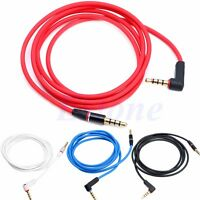 3.5mm Right Angle AUX Headphone Male to Male Stereo Audio Cable For iPod MP3 CAR