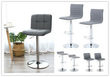 2 set Bar Stools Breakfast Kitchen Swivel Counter Chair with Adjustable Gas Lift