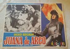 Joan of Arc Lobby Card Spanish Mexico Juana de Argo Ingrid Bergman 1948