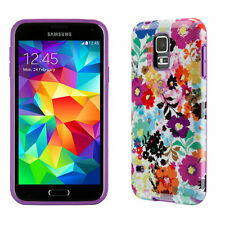 Speck CandyShell Inked Samsung Galaxy S5 Cases Bold Blossoms White/Revolution...