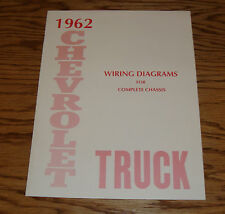 1962 Chevrolet Truck Wiring Diagram Manual for Complete Chassis 62 Chevy