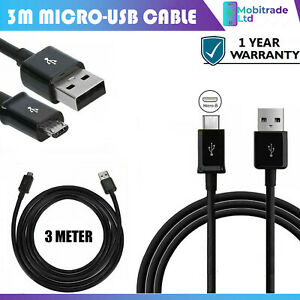 3 Meter Long Micro USB Power Cable Lead For Amazon Fire TV Stick  All Generation