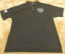 Jack Daniels Dave Blaney mens embroidered polo shirt LARGE black cotton EUC