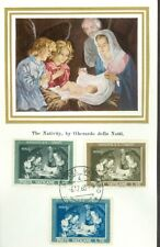 Vatican City Sc#292-4: Christmas 1960 Issue on Maxi Card