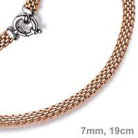 7mm Armband Armkette Himbeere aus 585 Echt Gold Rotgold 19cm Armschmuck Damen