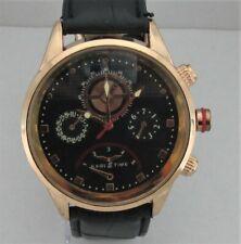 Eagle Time Herrenarmbanduhr,Uhr läuft,Batterie ist neu,schwarzes Lederband