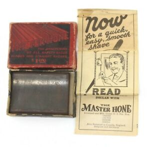 $1.00 Master Hone Stone (Wisconsin Abrasive Co) + Box + Paperwork / CV Tools