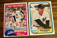 Rich Gossage 1981 Topps #460 and Fleer #89 - Yankees
