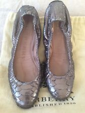 Authentic Burberry python Ballerina Shoes Foldable Size 37 with dust bag