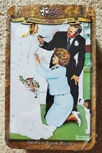Norman Rockwell: Bride To Be - 500Pc Jigsaw Puzzle In A Tin By Serendipity NEW!