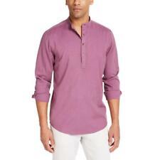 Inc para hombres JORDAN 1/4 botones Camisa Informal Con Cuello Camisa Top BHFO 1042