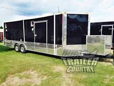 New 2022 85 X 24 V Nose Enclosed Cargo Car Hauler Trailer Loaded Race Package 2