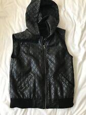 Dotti Faux Leather Zip Vest size 10