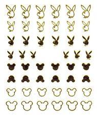 One Stroke Sticker,Gold, Bunny, Maus ,Tattoo, Aufkleber  Nr.1374