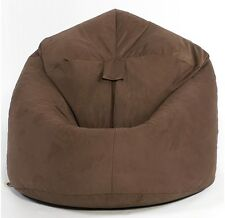 X-l Top Quality Brown Soft Faux Suede Classic Beanbag Bean Bag Chair Post