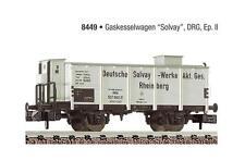 Fleischmann N 8449 GAS-KESSELWAGEN mit Bremserhaus Solvay DRG Rheinberg NEU&OVP