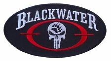 BLACKWATER PUNISHER SKULL EMROIDERED 4.0 INCH HOOK PATCH