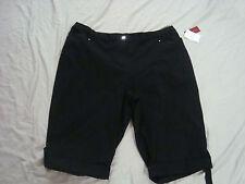 New JM Collection Woman Ebony Black Shorts 24W Plus