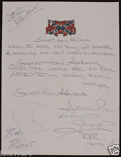 LYNYRD SKYNYRD - Signed Handwritten Lyrics - 'Sweet Home Alabama' - preprint