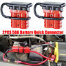 2x 50A Car 12 Volt Battery Quick Connect Disconnect Harness Plug Winch Connector