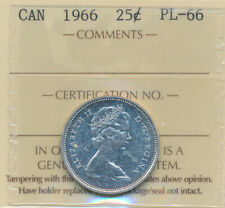 1966 25 cents in PL-66 ,  Certified