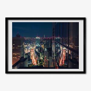 Tulup Bild MDF-gerahmte Wand-Dekor 100x70cm Tokyo, Japan