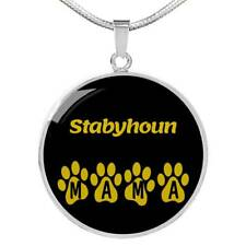 Dog Lover Gift Stabyhoun Mama Circle Necklace Stainless Steel or 18k Gold 18-22""