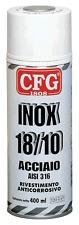 CFG 400ML SPRAY ACCIAIO INOX RITOCCO PROTEZIONE FINITURA FERRO GHISA ALLUMINIO