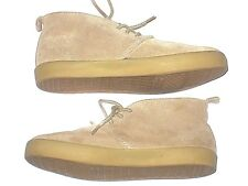 Gap Kids Wallabees Boots Boys Tan Suede Mid Top Beige Size 3