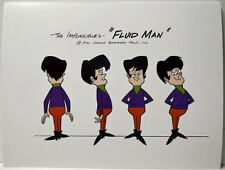 The IMPOSSIBLES MODEL SHEET PRINT - FLUID MAN Alter Ego Hanna Barbera