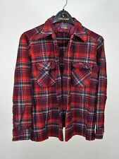 Vintage Pendleton Woolen Mills Made in USA Plaid Flannel Shirt Large