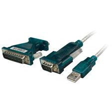 Adapter Konverter Kabel USB 2.0 zu RS232 Com Port Seriell 9+25 Pin PC Laptop