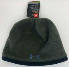 NWT Under Armour Coldgear Infrared Green Fleece Beanie Men's 1263098-308