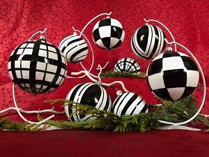 "Christbaumkugel ""black & white"" Weihnachtskugel Glas Baumkugel Glaskugel Lauscha"