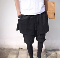 Men Pantskirt Leggings Black Running Trousers Athletic Pencil Pants Vogue Shorts