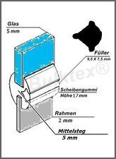 DDR Anhänger Qek Junior Qeck Scheibe Gummi Set alle 4 Scheiben Mittelsteg 5 mm