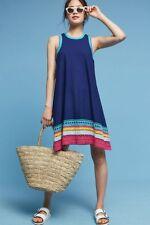 NWT Anthropologie Crochet Trim Swing Dress, by Akemi + Kin - Blue, size L