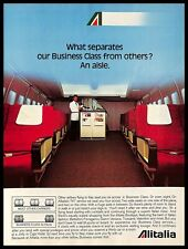 1983 Alitalia Airline Business Class Vintage PRINT AD Italy Airplane Interior